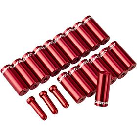 Jagwire Universal Pro Endkappen Set für Standard Außenhüllen rot